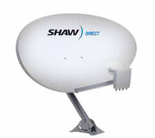 Shaw Direct 60e elliptical satellite dish image